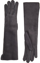 Barneys New York Women's Shearling-Lined Long Gloves-DARK GREY