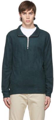 A.P.C. Green Feyo Half-Zip Pullover