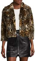 Mother Women's The Boxy Cropped Faux Fur Jacket