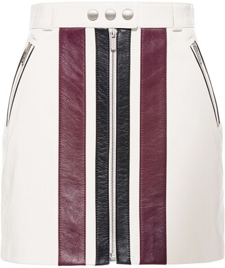 Miu Miu High-Waisted Panelled Mini Skirt