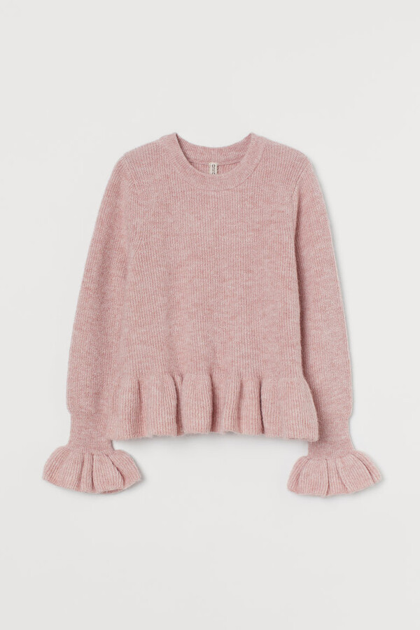 Thumbnail for your product : H&M Flounced knitted jumper