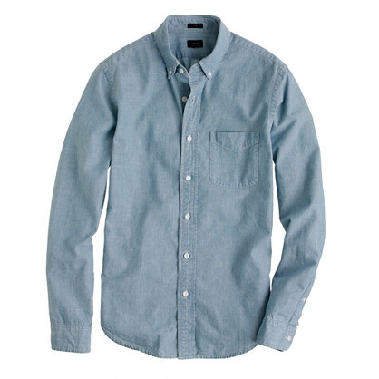 J.Crew Slim Japanese chambray shirt
