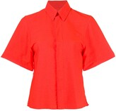 Ami Paris Invisible Button Placket Short Sleeves Shirt