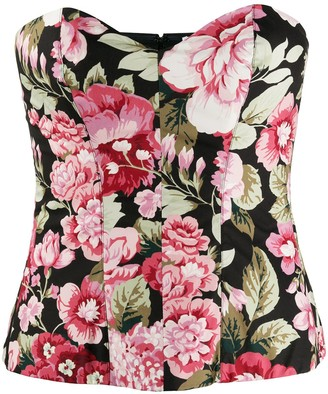 P.A.R.O.S.H. Floral Print Cotton Corset