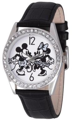 Disney Mouse Women's Silver Alloy Glitz Watch, 1-Pack