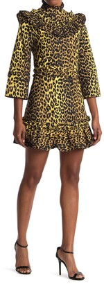 Ganni Printed Cotton Mini Dress