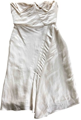 John Galliano White Silk Dresses