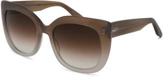 Barton Perreira Olina Gradient Chunky Cat-Eye Sunglasses