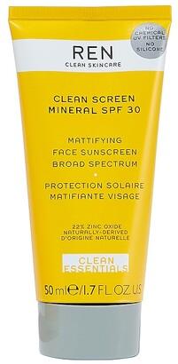 Ren Skincare Clean Screen Mineral SPF 30 Mattifying Face Sunscreen