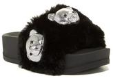 Jeffrey Campbell Edie Faux Fur Bear Slide Sandal
