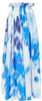 Carolina Herrera Superbloom-print Poplin Maxi Skirt - Womens - Blue White