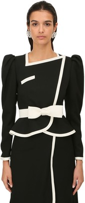 Alessandra Rich Light Cool Wool Two Tone Jacket