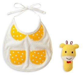 Mikihouse Miki House Bib & Rattle Gift Set - Baby