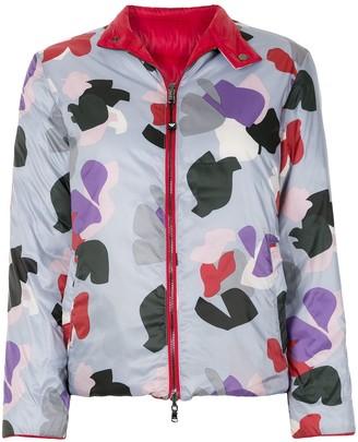 Emporio Armani Abstract Print Padded Jacket
