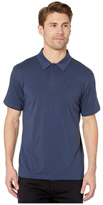 RVCA Sure Thing Polo III (Moody Blue) Men's Clothing