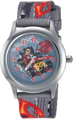 Disney Boys Mickey Mouse Stainless Steel Analog-Quartz Watch with Nylon Strap