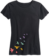 Instant Message Women's Women's Tee Shirts BLACK - Black Birds Relaxed-Fit Tee - Women & Plus