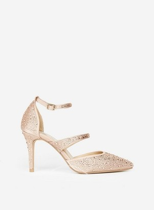 Dorothy Perkins Womens **Showcase Blush Diamante Court Shoes