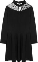 Ungaro Tulle-paneled Stretch-knit Mini Dress - Black