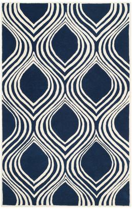 Safavieh Chatham Collection CHT758 Rug, Dark Blue/Ivory, 3'x5'