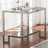 Greyson Living Cordele Chrome and Glass End Table