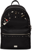 Dolce & Gabbana Black Studs and Pins Backpack