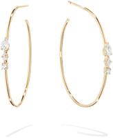 Lana Magic 14k Gold Diamond Cluster Hoop Earrings