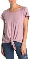 Sanctuary Raglan Sleeve Tie Hem T-Shirt (Petite)
