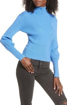 J.o.a. Balloon Sleeve Turtleneck Sweater