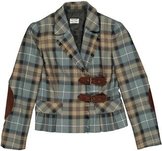 Philosophy di Alberta Ferretti Green Wool Jacket for Women