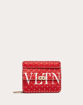 Valentino Garavani Medium Rockstud Spike.it Vltn Nappa Leather Bag Women Pure Red/optic White 100% Lambskin OneSize