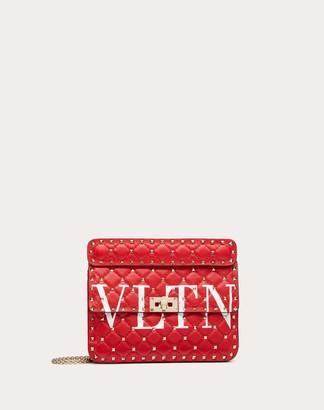 Valentino Medium Rockstud Spike.it Vltn Nappa Leather Bag Women Pure Red/optic White 100% Lambskin OneSize