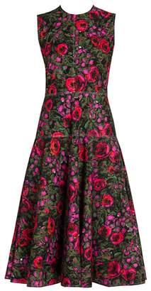 Marni Rose Camoflauge Fit-&-Flare Dress