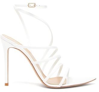 Gianvito Rossi Eclypse 105 Leather Sandals - White