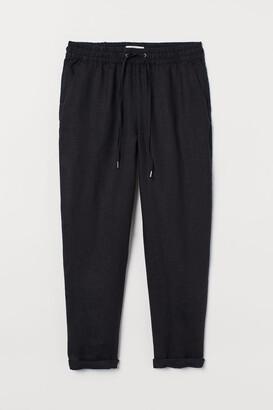 H&M Linen Joggers - Black