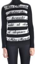 Frankie Morello Women's White/black Wool Sweater.