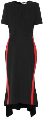 Alexander McQueen Virgin wool crepe midi dress