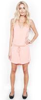Michael Lauren Micheal Lauren Joop V-Neck Mini Dress in Pink Salmon