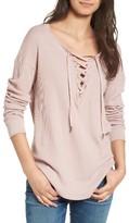 Splendid Women's Lace-Up Thermal Shirt