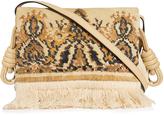 Loewe Flamenco Tapestry suede shoulder bag