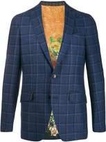 Etro check print blazer