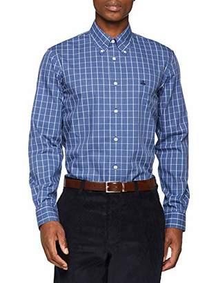 Brooks Brothers Men's's Camicia con Logo Milano Casual Shirt Medium
