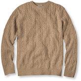 L.L. Bean Cashmere Sweater, Crewneck Cable Knit