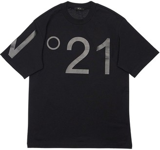 N°21 Oversize Printed Cotton Jersey T-Shirt
