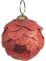 Christmas Shop Orn-Bauble Paper Scale Glitter Red