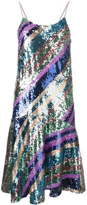 Essentiel Antwerp striped combo sequin dress