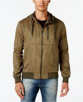 Sean John Men's Big & Tall Suede Hooded Jacket