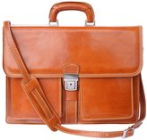Florence Leather Market Leather briefcase 2 compartments 7604