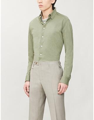 Eton Regular-fit cotton-pique shirt