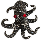 Kenneth Jay Lane Crystal Octopus Brooch